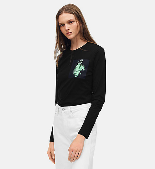 CALVIN KLEIN JEANS Warhol Portrait Long Sleeve T-shirt - CK BLACK / GREEN -  ANDY WARHOL - main image