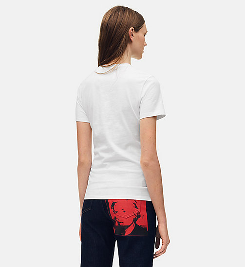 CALVIN KLEIN JEANS T-shirt met Warhol-portret - BRIGHT WHITE / RED -  ANDY WARHOL - detail image 1