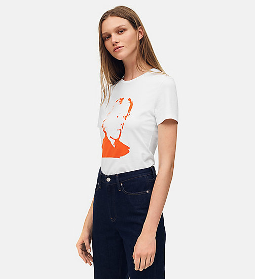 CALVIN KLEIN JEANS T-shirt met Warhol-portret - BRIGHT WHITE / RED -  ANDY WARHOL - main image