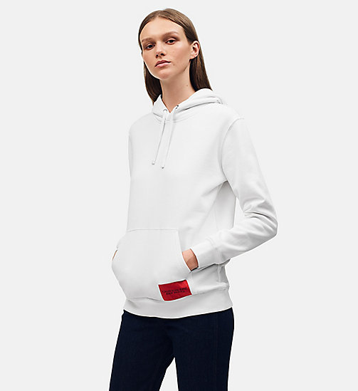 CALVIN KLEIN JEANS Oversized hoodie met Warhol-portret - BRIGHT WHITE / BLACK - CALVIN KLEIN JEANS ANDY WARHOL - main image