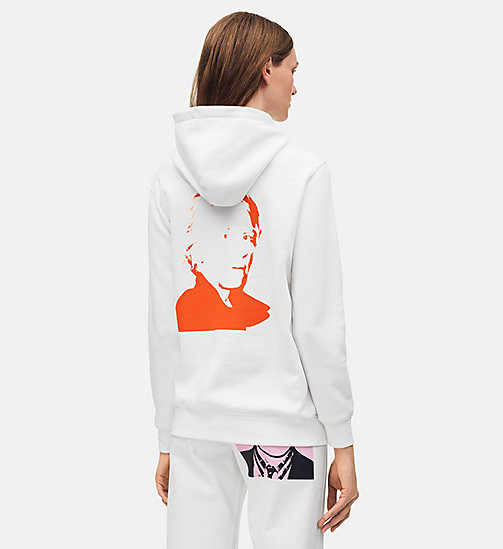CALVIN KLEIN JEANS Warhol Portrait Oversized Hoodie - BRIGHT WHITE / RED - CALVIN KLEIN JEANS ANDY WARHOL - detail image 1