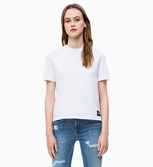 CALVIN KLEIN JEANS Straight T-shirt - BRIGHT WHITE - CALVIN KLEIN JEANS NEW IN - main image