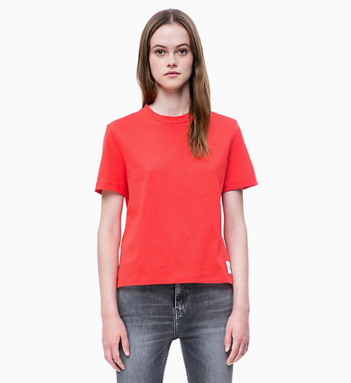 CALVIN KLEIN JEANS Straight T-shirt - RACING RED - CALVIN KLEIN JEANS CLOTHES - main image