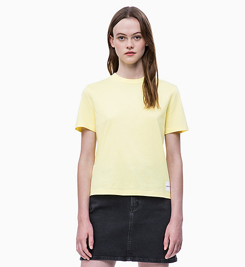 CALVIN KLEIN JEANS Straight T-shirt - YELLOW CREAM - CALVIN KLEIN JEANS NEW IN - main image