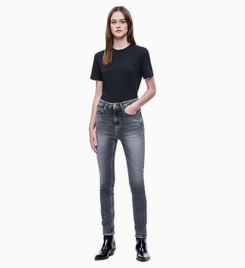 CALVIN KLEIN JEANS CKJ 010 High Rise Skinny Jeans - BILBAO BLACK - CALVIN KLEIN JEANS CLOTHES - detail image 1