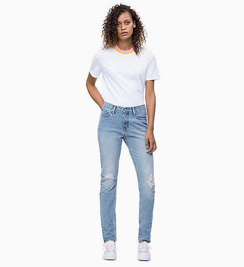 CALVIN KLEIN JEANS CKJ 021 Mid Rise Slim Jeans - KEY WEST - CALVIN KLEIN JEANS ДЖИНСЫ SLIM - подробное изображение 1