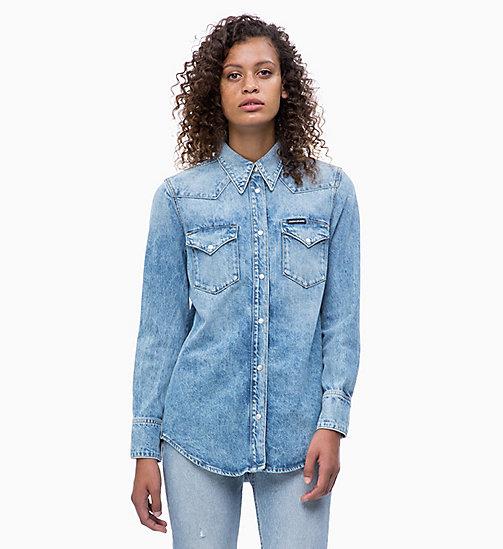 CALVIN KLEIN JEANS Western Denim Shirt - NIKKI BLUE - CALVIN KLEIN JEANS  CLOTHES - main ... 54443052afa5