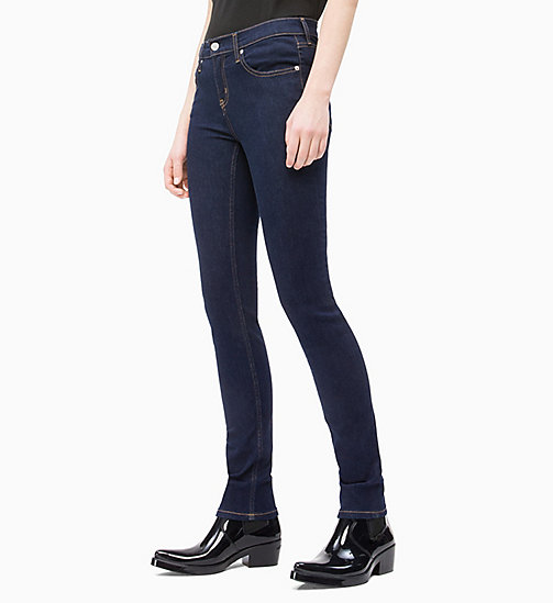 CALVIN KLEIN JEANS CKJ 011 Mid Rise Skinny Jeans - RINSE SMART STRETCH - CALVIN KLEIN JEANS DENIM SHOP - main image