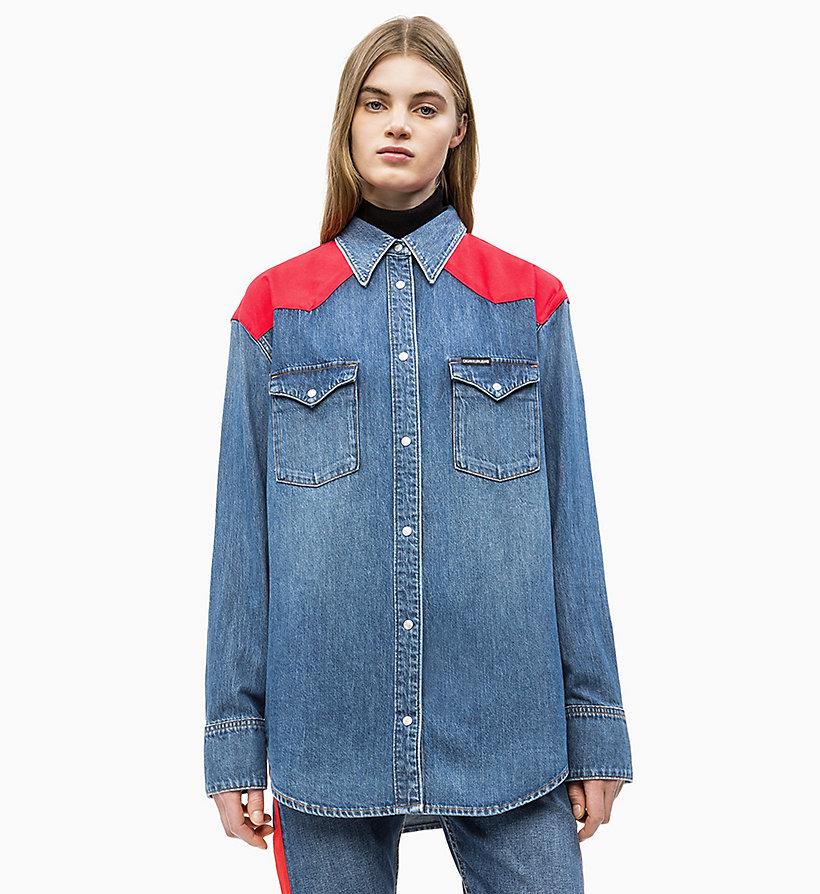 pretty nice 86e7e 0e868 Camicia di jeans stile Western oversize da donna da donna ...