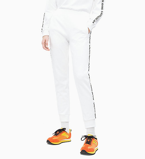 CALVIN KLEIN JEANS Logo Tape Joggers - BRIGHT WHITE - CALVIN KLEIN JEANS NEW IN - main image