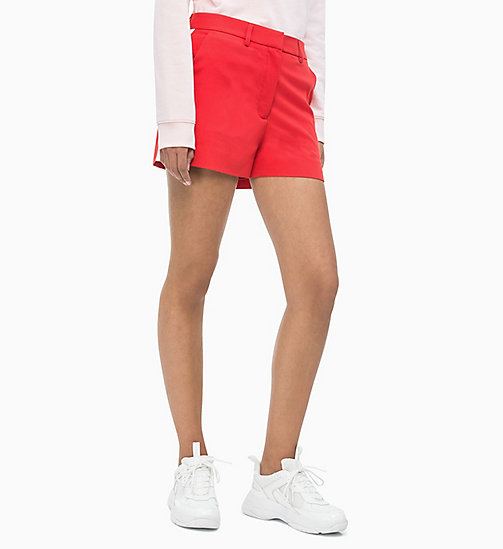 CALVIN KLEIN JEANS Twill-Shorts mit Seitenstreifen - RACING RED - CALVIN KLEIN JEANS NEW IN - main image