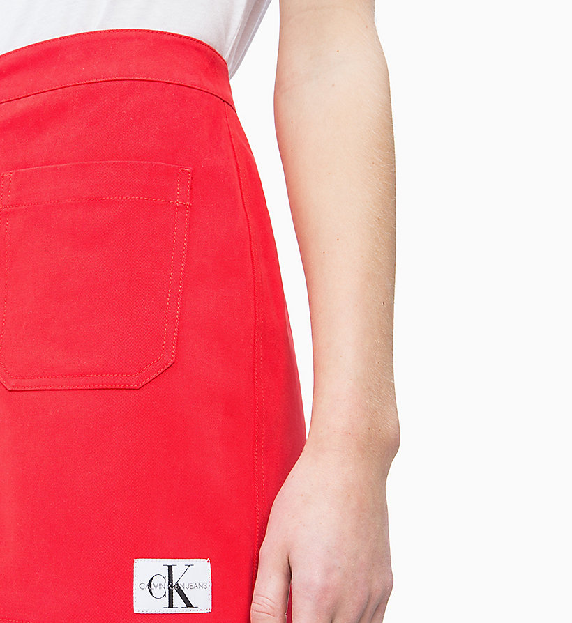 CALVIN KLEIN JEANS Button-Through Mini Skirt - CK BLACK - CALVIN KLEIN JEANS WOMEN - detail image 2