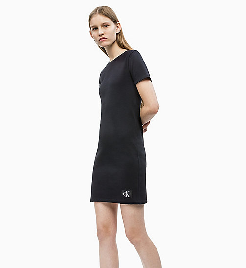CALVIN KLEIN JEANS Rib Jersey Dress - CK BLACK - CALVIN KLEIN JEANS NEW IN - detail image 1