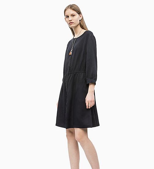 CALVIN KLEIN JEANS Drapey Dress - CK BLACK - CALVIN KLEIN JEANS NEW IN - detail image 1