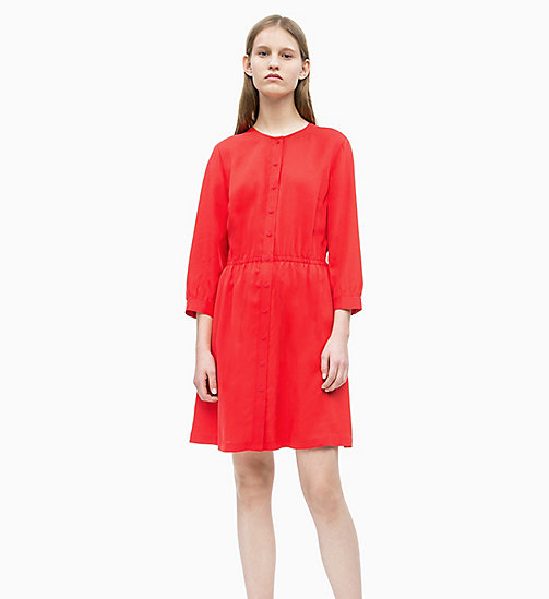 CALVIN KLEIN JEANS Drapey Dress - RACING RED - CALVIN KLEIN JEANS NEW IN - detail image 1