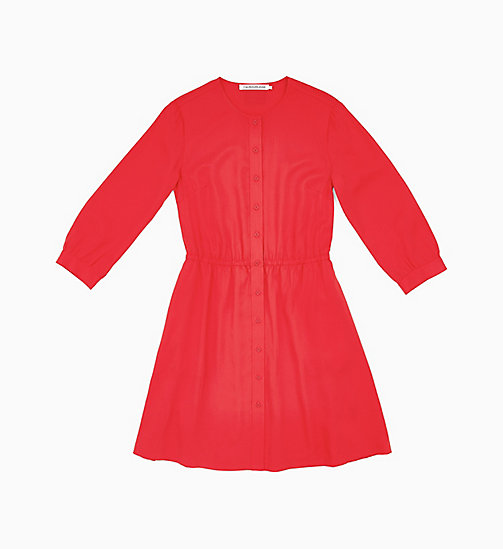 CALVIN KLEIN JEANS Drapey Dress - RACING RED - CALVIN KLEIN JEANS NEW IN - main image