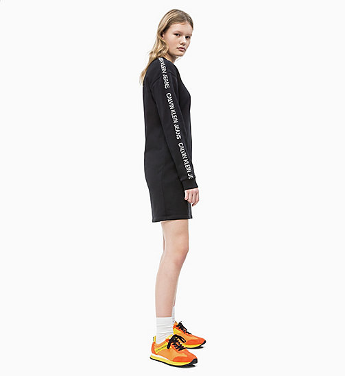 CALVIN KLEIN JEANS Logo Tape Sweatshirt Dress - CK BLACK - CALVIN KLEIN JEANS NEW IN - detail image 1