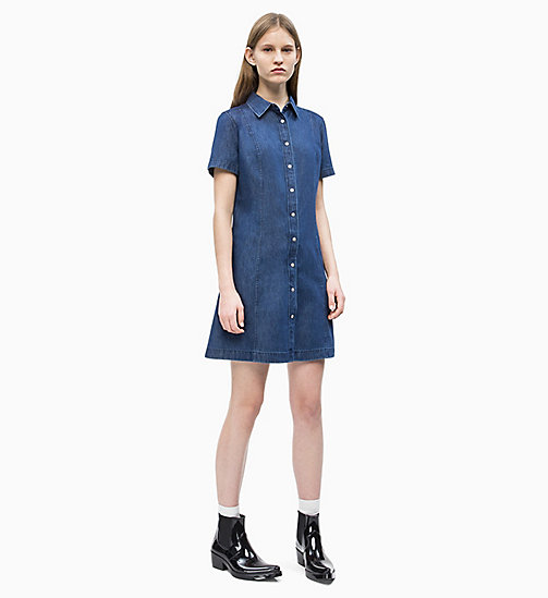 CALVIN KLEIN JEANS Denim Shirt Dress - DARK INDIGO - CALVIN KLEIN JEANS DENIM SHOP - detail image 1