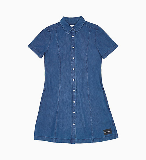CALVIN KLEIN JEANS Denim Shirt Dress - DARK INDIGO - CALVIN KLEIN JEANS DENIM SHOP - main image