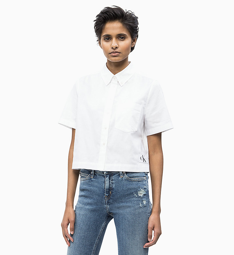 ada63c7da3ee67 Cropped Oxford Cotton Shirt Calvin Klein® | J20J210428112