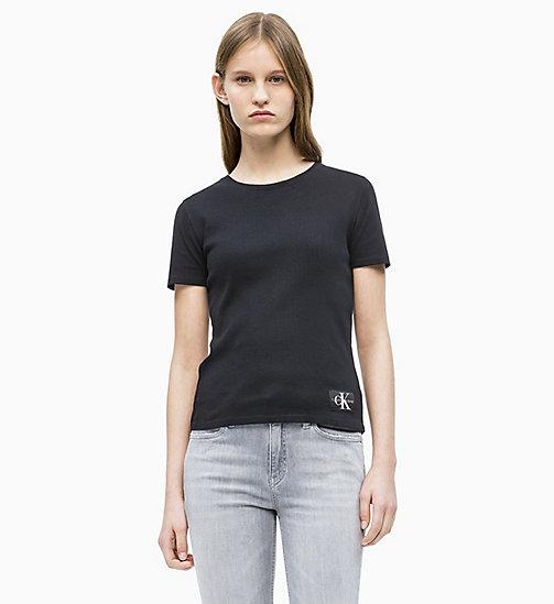 CALVIN KLEIN JEANS Rib T-shirt - CK BLACK - CALVIN KLEIN JEANS NEW IN ... c907134343cc