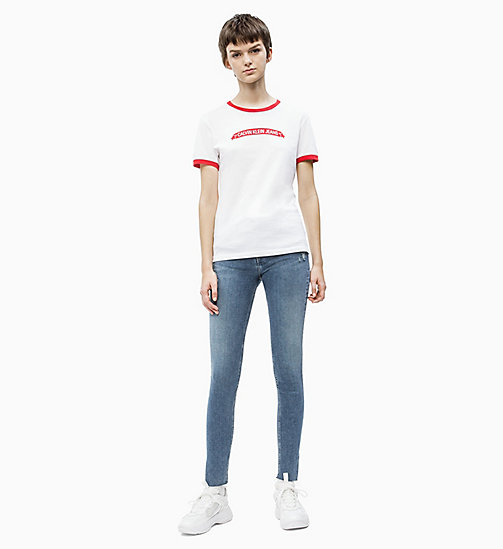 CALVIN KLEIN JEANS Organic Cotton Logo T-shirt - BRIGHT WHITE/ RACING RED - CALVIN KLEIN JEANS NEW IN - detail image 1