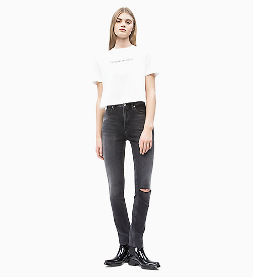 CALVIN KLEIN JEANS Organic Cotton Cropped T-shirt - BRIGHT WHITE - CALVIN KLEIN JEANS NEW IN - detail image 1