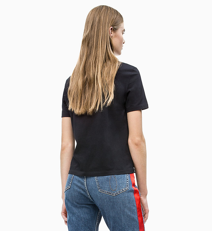 CALVIN KLEIN JEANS Straight Fit Logo-T-Shirt - BRIGHT WHITE/ RACING RED - CALVIN KLEIN JEANS DAMEN - main image 1
