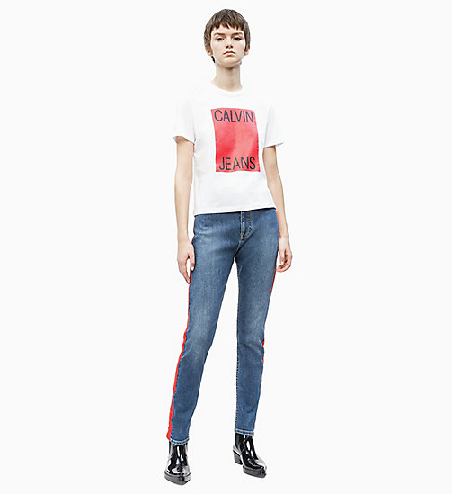 CALVIN KLEIN JEANS Straigth Logo T-shirt - BRIGHT WHITE/ RACING RED - CALVIN KLEIN JEANS NEW IN - detail image 1