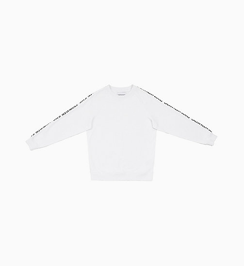CALVIN KLEIN JEANS Logo Tape Sweatshirt - BRIGHT WHITE - CALVIN KLEIN JEANS NEW IN - main image