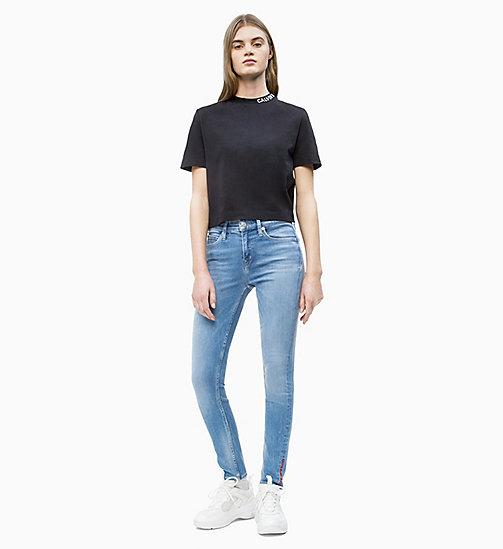 CALVIN KLEIN JEANS Cropped Skater T-shirt - CK BLACK - CALVIN KLEIN JEANS NEW IN - detail image 1