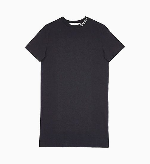 CALVIN KLEIN JEANS Logo Collar T-shirt Dress - CK BLACK - CALVIN KLEIN JEANS NEW IN - main image