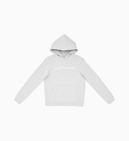 CALVIN KLEIN JEANS Logo Hoodie - LIGHT GREY HEATHER - CALVIN KLEIN JEANS NEW IN - main image