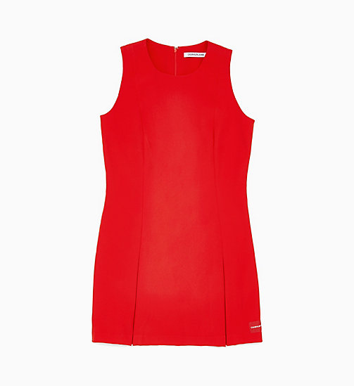 CALVIN KLEIN JEANS Flared Satin Dress - RACING RED - CALVIN KLEIN JEANS NEW IN - main image