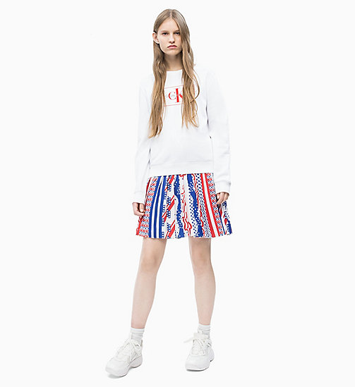 CALVIN KLEIN JEANS Pleated Flag Skirt - FLAG AOP SURF THE WEB MULTI - CALVIN KLEIN JEANS NEW IN - detail image 1