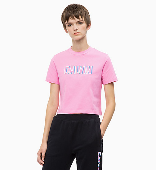 CALVIN KLEIN JEANS Cropped Logo T-shirt - WILD ORCHID -  CALVIN KLEIN JEANS CAPSULE - main image