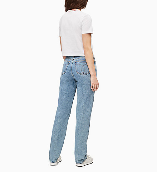 CALVIN KLEIN JEANS CKJ 030 High Rise Straight Jeans - ICONIC MID STONE CMF - CALVIN KLEIN JEANS DENIM SHOP - detail image 1