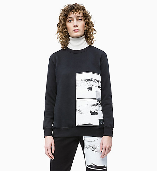 CALVIN KLEIN JEANS Andy Warhol Photo Art Sweatshirt - CK BLACK - CALVIN KLEIN JEANS ANDY WARHOL - main image
