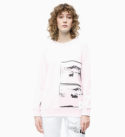 CALVIN KLEIN JEANS Andy Warhol Photo Art Sweatshirt - CHERRY BLOSSOM - CALVIN KLEIN JEANS ANDY WARHOL - main image