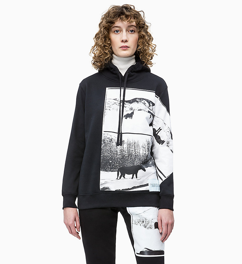 CALVIN KLEIN JEANS Andy Warhol Photo Art Hoodie - BRIGHT WHITE - CALVIN KLEIN JEANS UNDERWEAR - main image