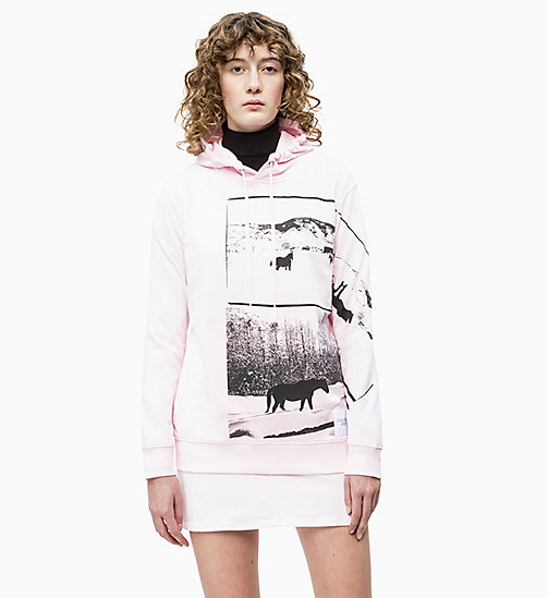 CALVIN KLEIN JEANS Andy Warhol Photo Art Hoodie - CHERRY BLOSSOM - CALVIN KLEIN JEANS ANDY WARHOL - main image