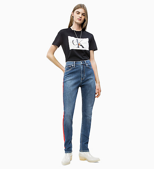 CALVIN KLEIN JEANS Straight Fit Logo-T-Shirt - CK BLACK / WHITE - CALVIN KLEIN JEANS NEW IN - main image 1