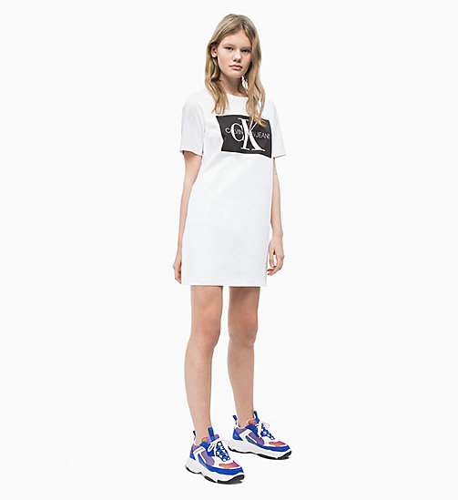 CALVIN KLEIN JEANS Logo T-shirt Dress - BRIGHT WHITE - CALVIN KLEIN JEANS NEW IN - detail image 1