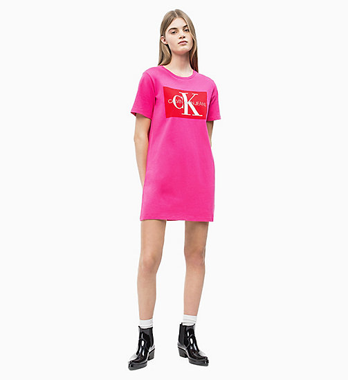 CALVIN KLEIN JEANS Logo T-shirt Dress - CABARET - CALVIN KLEIN JEANS NEW IN - detail image 1