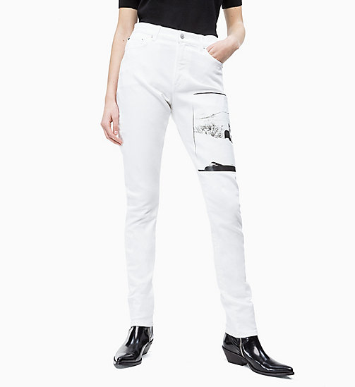 CALVIN KLEIN JEANS Andy Warhol High Rise Slim Jeans - WHITE - CALVIN KLEIN JEANS ANDY WARHOL - main image