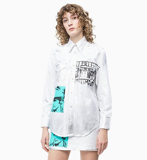 8791d70b9b38f2 £130.00Andy Warhol Metallic Denim Shirt