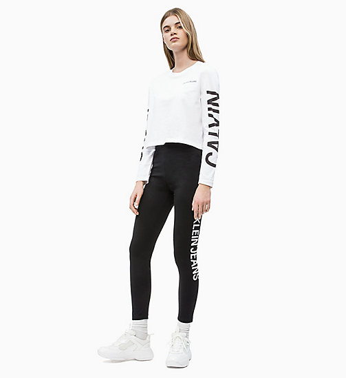 CALVIN KLEIN JEANS Side Logo Leggings - CK BLACK - CALVIN KLEIN JEANS NEW IN - detail image 1