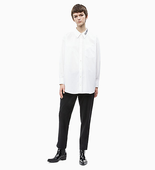CALVIN KLEIN JEANS Oversized Logo Collar Shirt - BRIGHT WHITE - CALVIN KLEIN JEANS NEW IN - detail image 1
