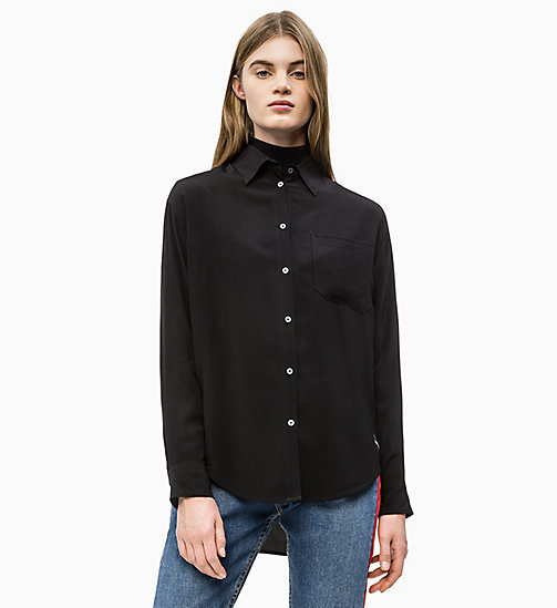 CALVIN KLEIN JEANS Relaxed Viscose Shirt - CK BLACK - CALVIN KLEIN JEANS NEW IN - main image