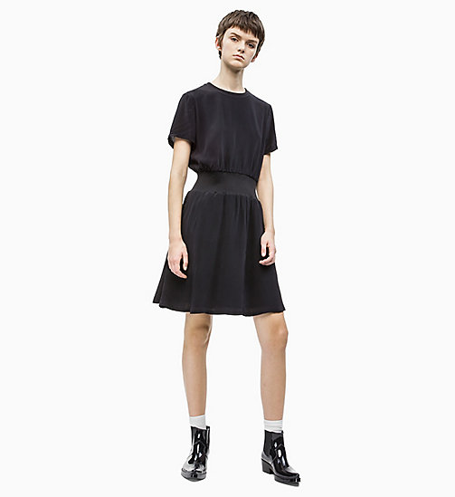 CALVIN KLEIN JEANS Crepe Fit and Flare Dress - CK BLACK - CALVIN KLEIN JEANS NEW IN - detail image 1